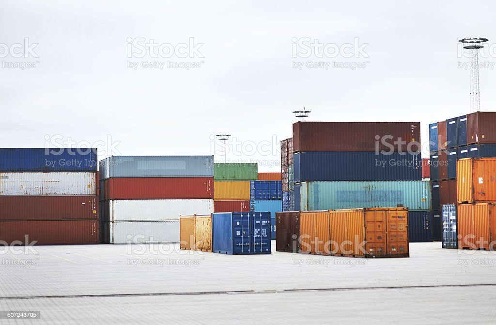 Ready for international shipping stock photo