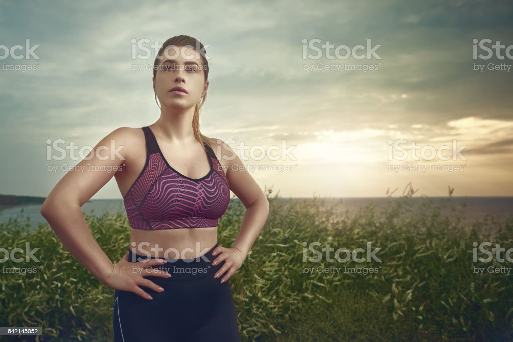 ready for my daily sport training stock photo