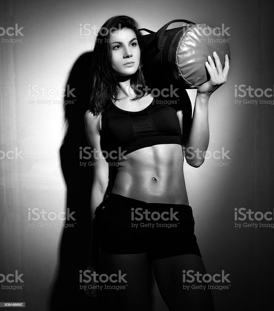 ready for my fitness hour stock photo