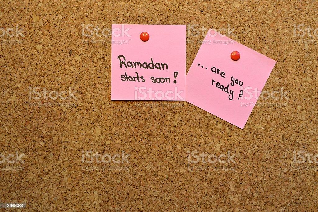 Ready for Ramadan Memo stock photo