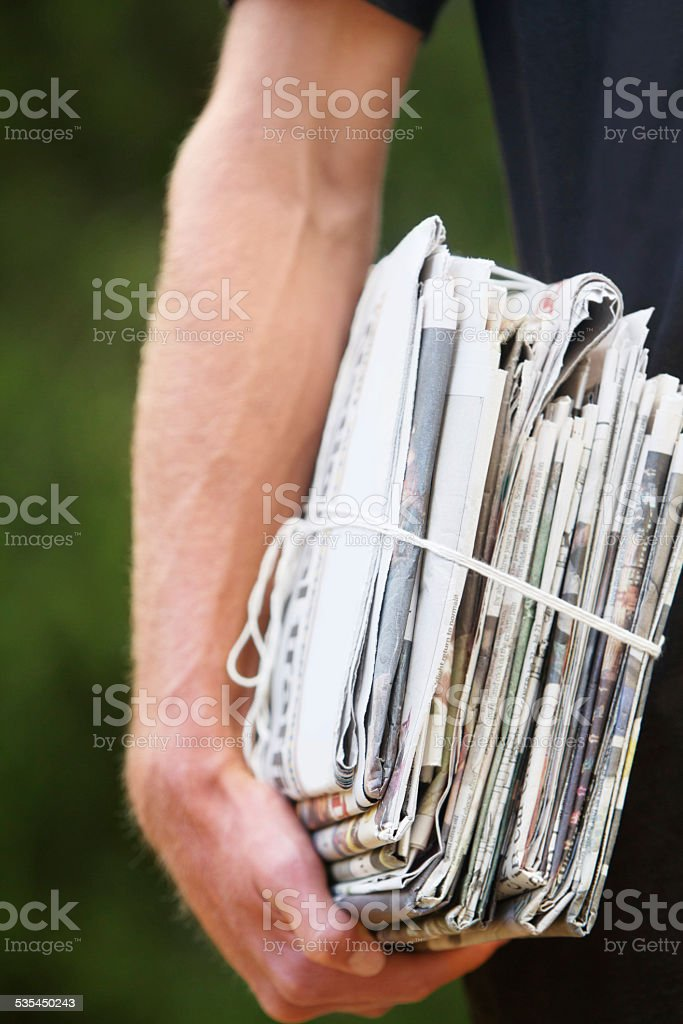 Ready for recycling stock photo