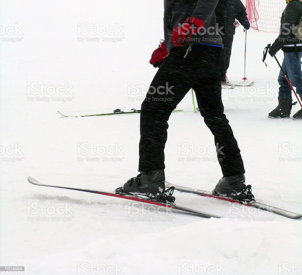 Ready for Skiing stock photo