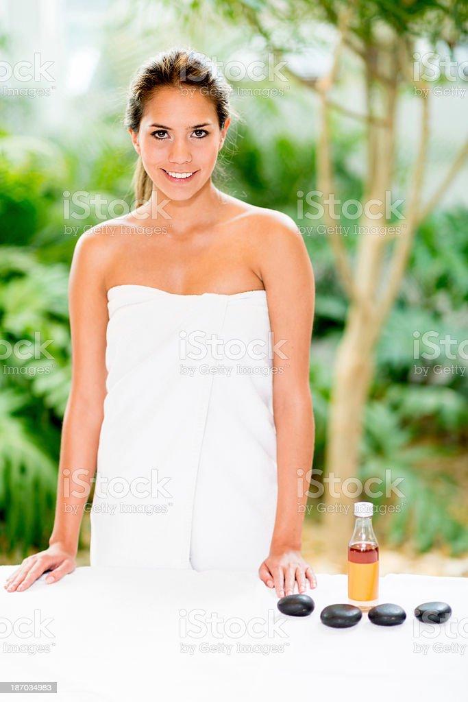 Ready for spa treatment royalty-free stock photo