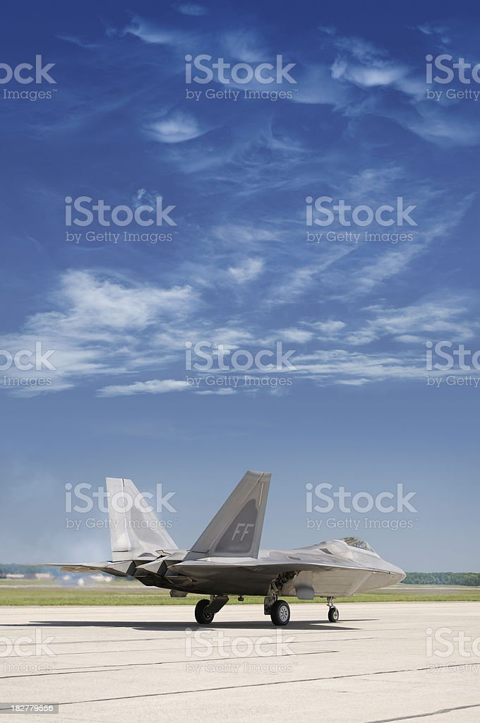 F-22 Ready for Take Off stock photo