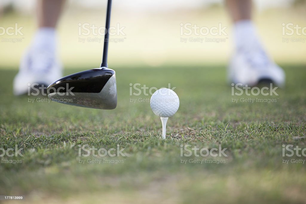 Ready for tee off royalty-free stock photo