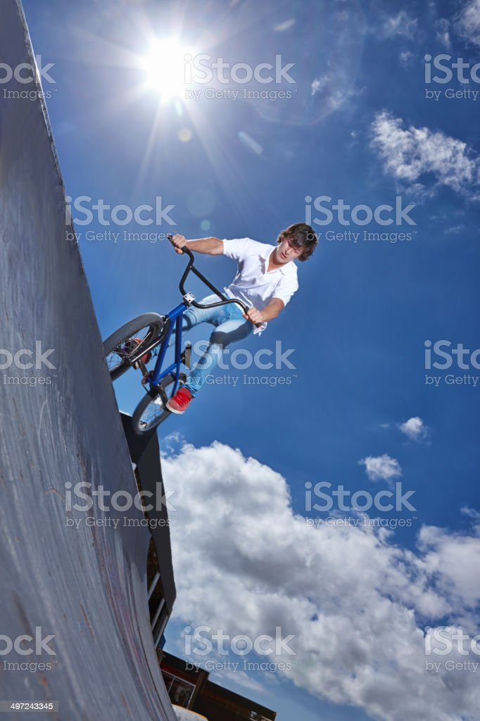 Ready for the descent royalty-free stock photo