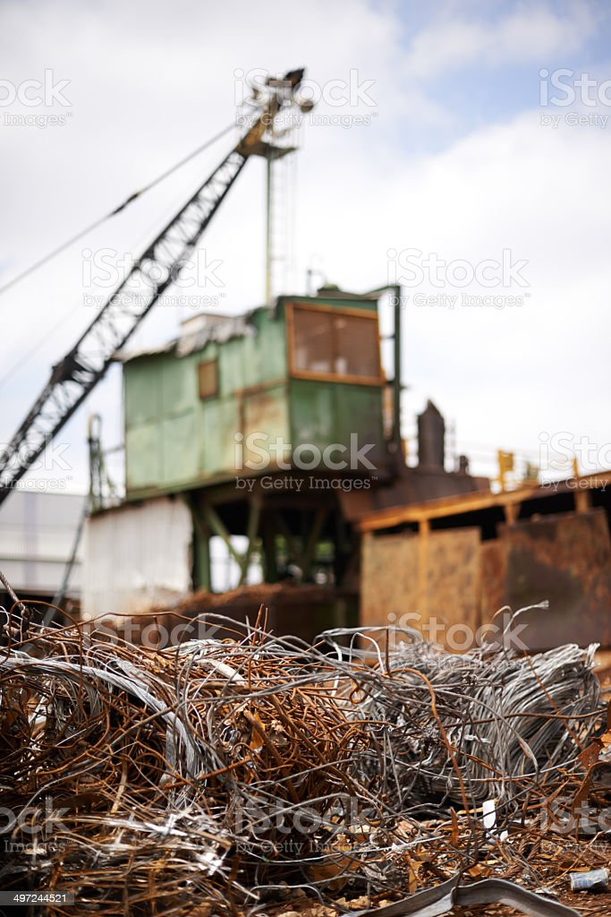 Ready for the scrap yard stock photo