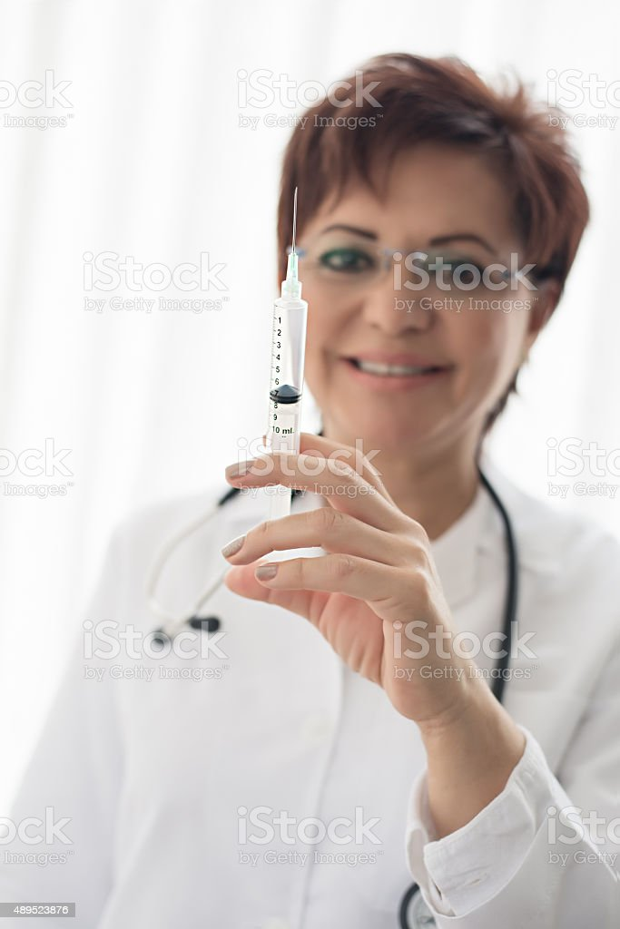 Ready for your vaccine? stock photo