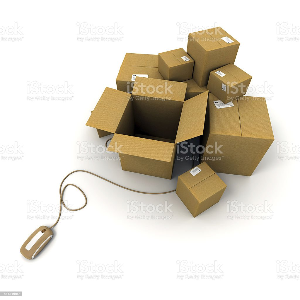 Ready online shipment royalty-free stock photo