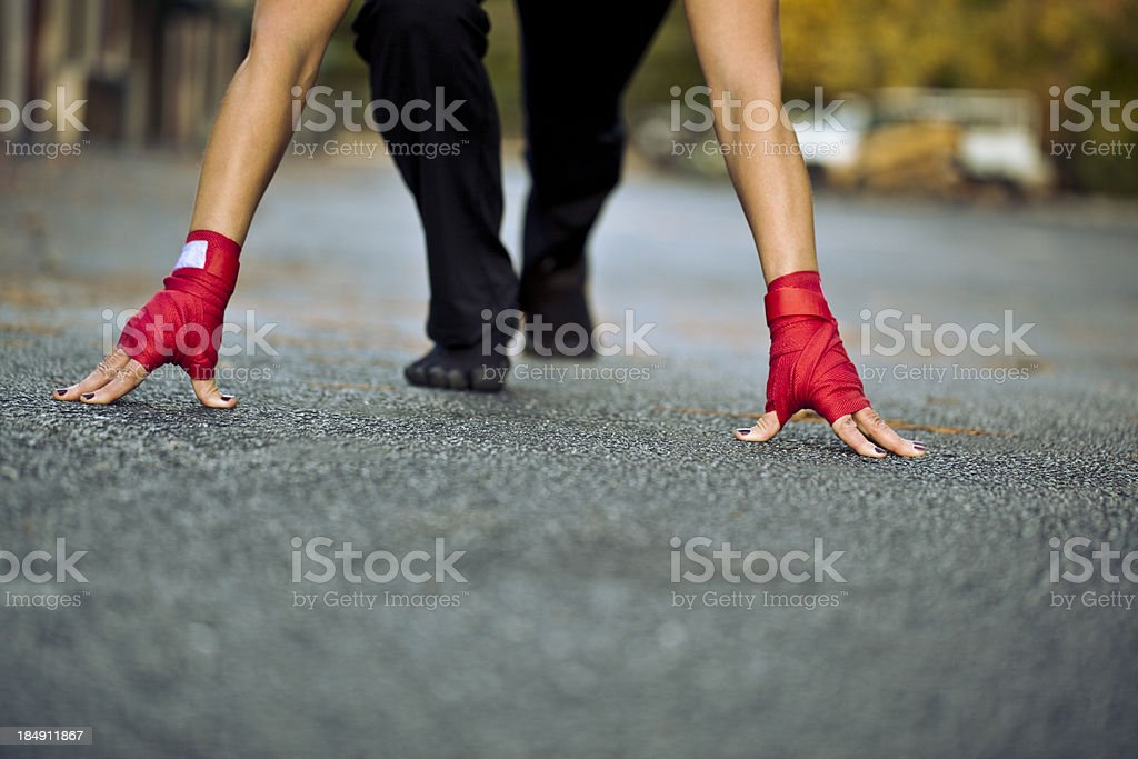 ready position royalty-free stock photo