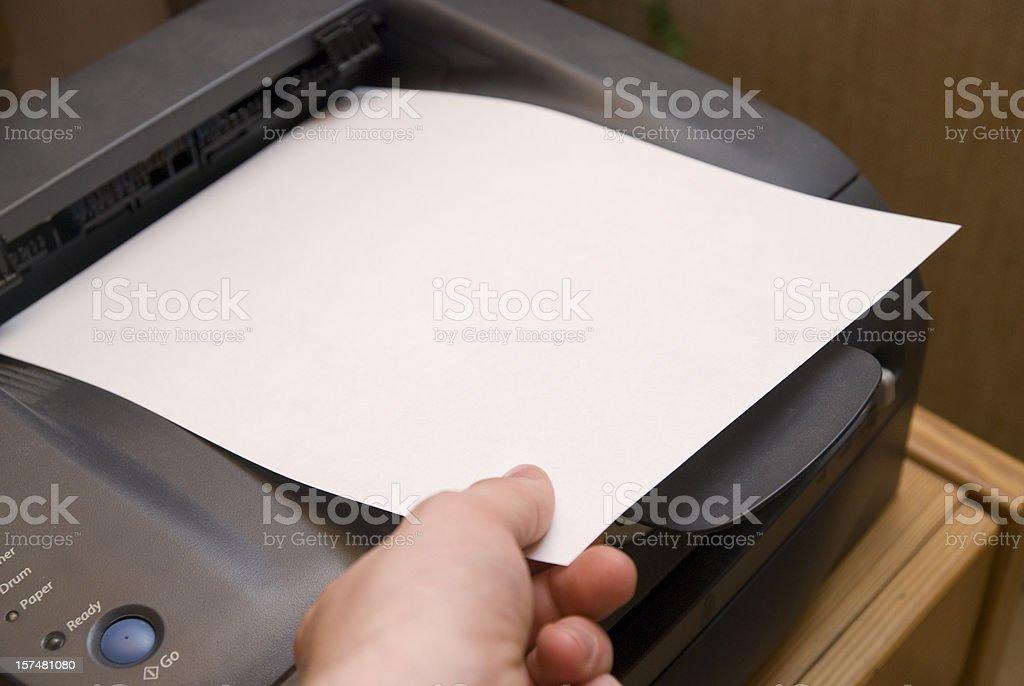 ready printer sheet stock photo