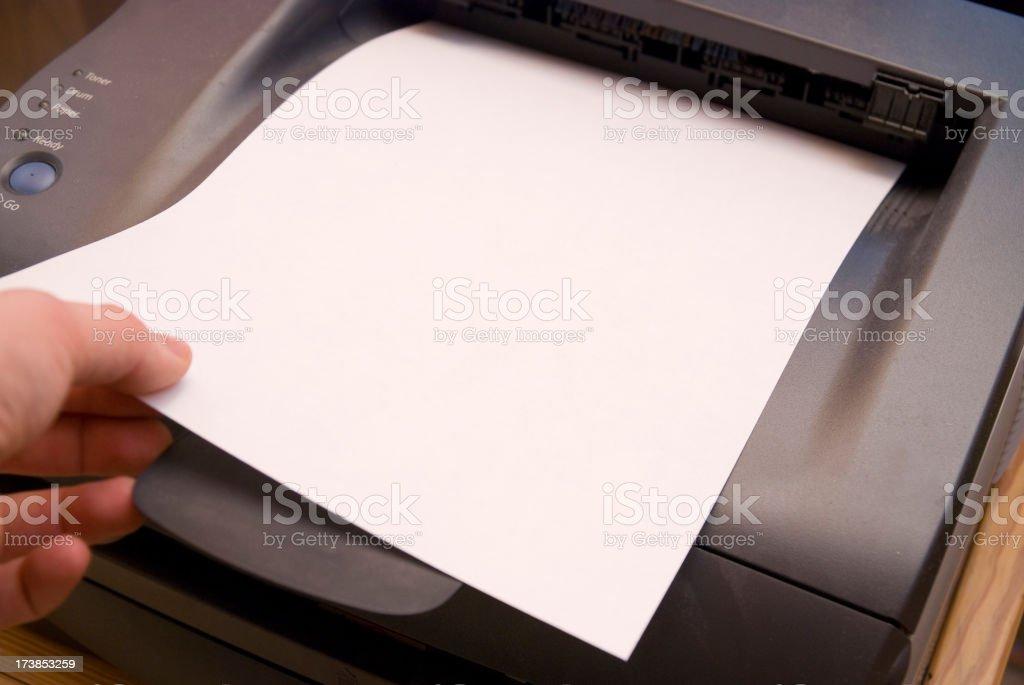 ready printer sheet royalty-free stock photo