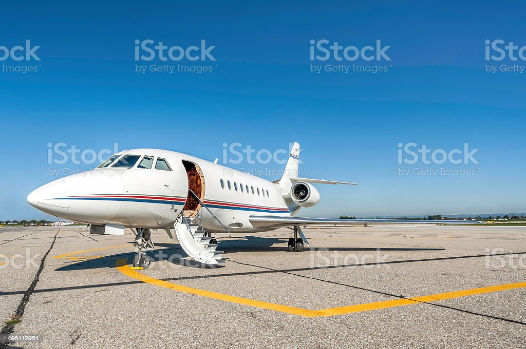 Ready private jet stock photo