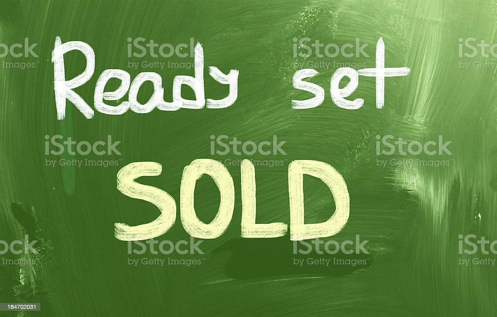 Ready Set Sold Concept royalty-free stock photo