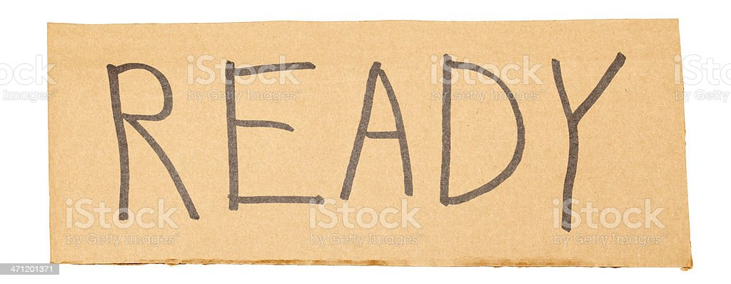 Ready Sign royalty-free stock photo