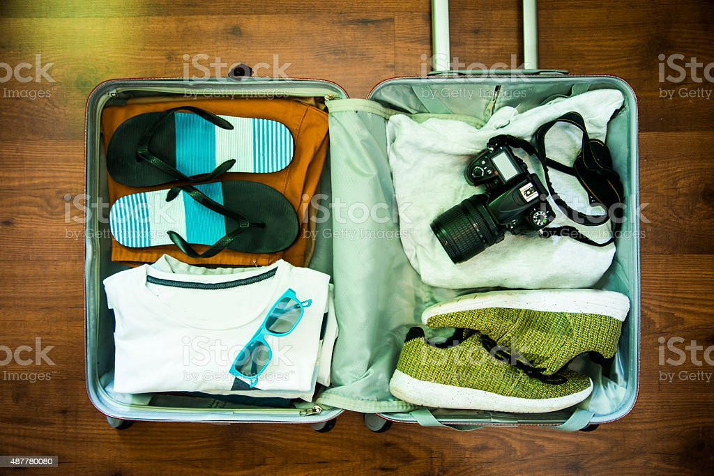 Ready suitcase stock photo