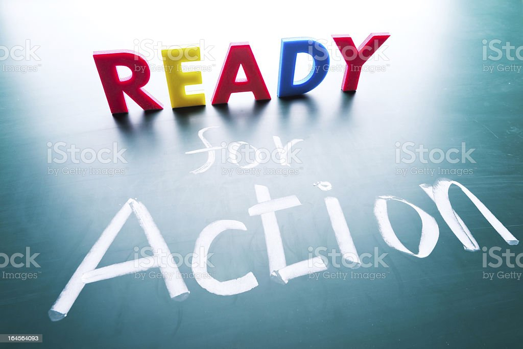 Ready to action royalty-free stock photo