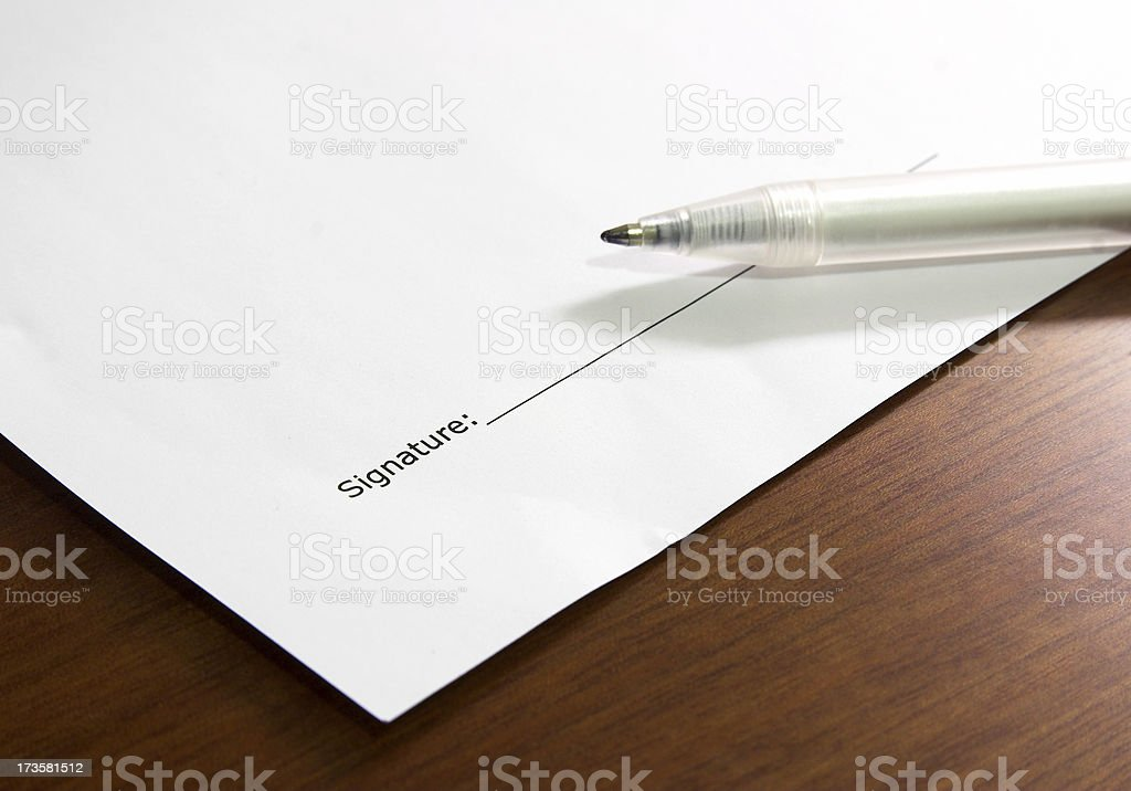Ready to be signed stock photo