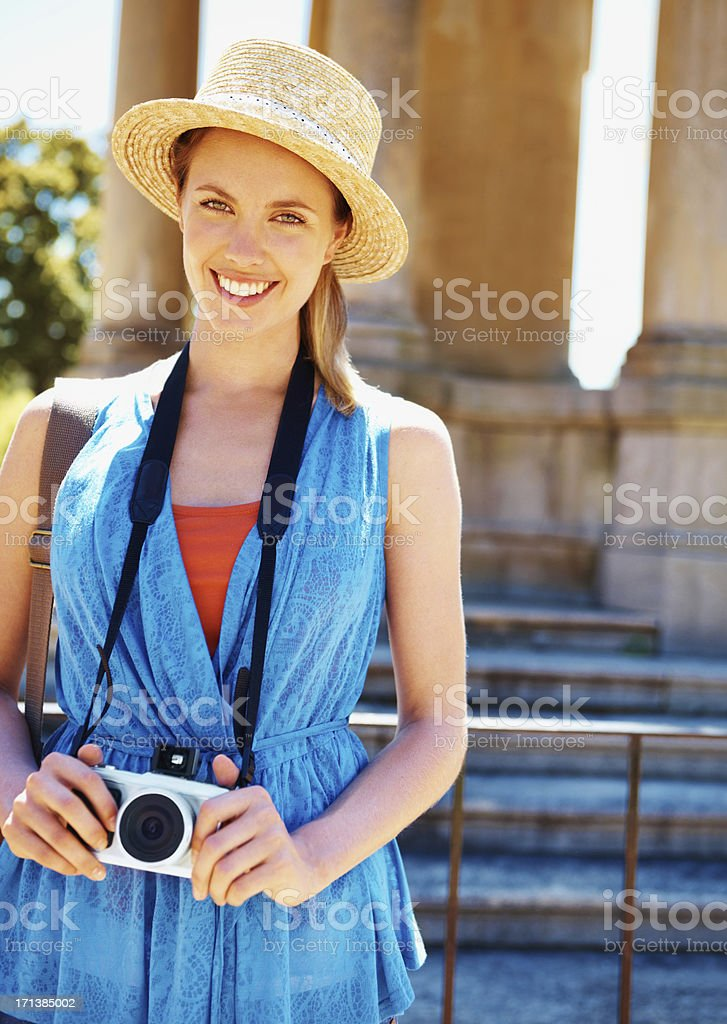 Ready to capture my holiday! stock photo