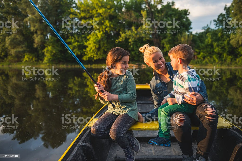Ready to catch some fish! stock photo