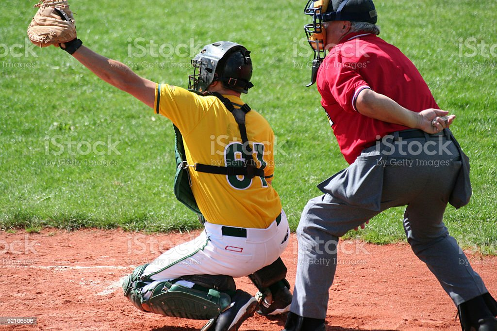 ready to catch the ball royalty-free stock photo
