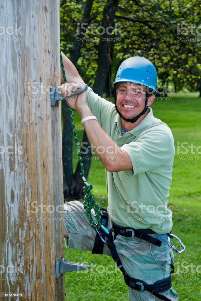 Bereit zum Klettern Lizenzfreies stock-foto