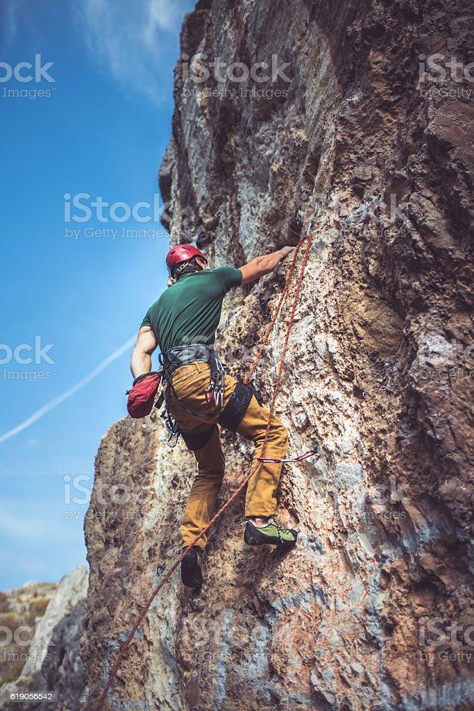Ready to climb stock photo