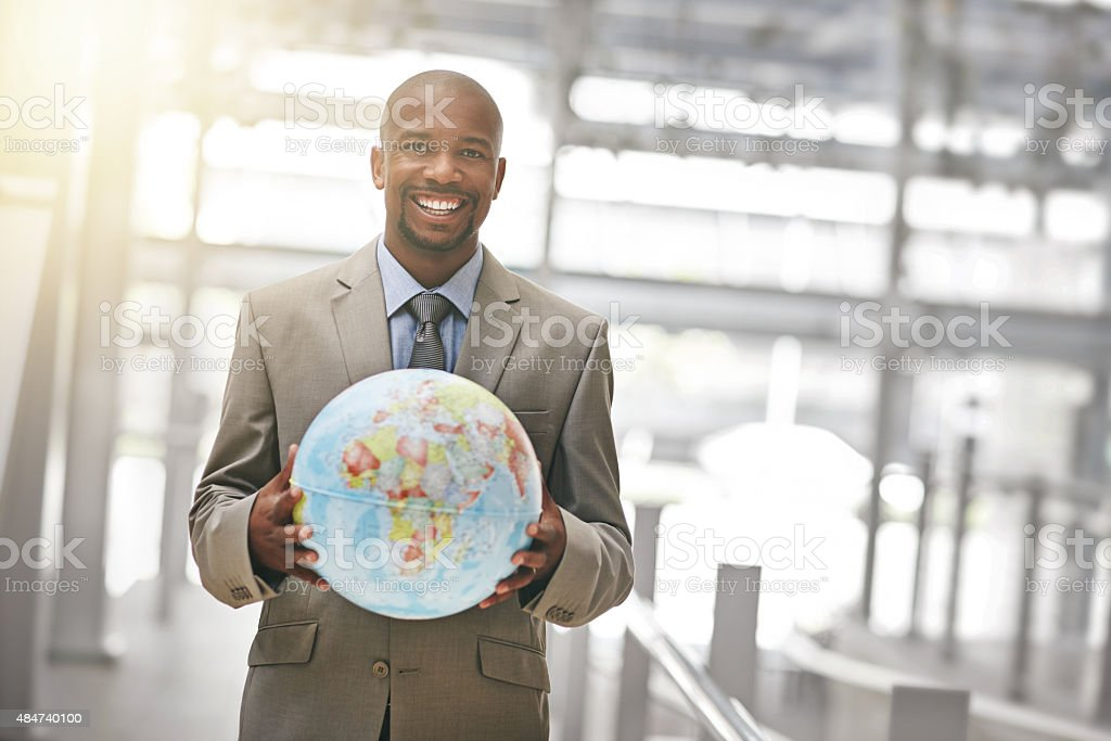 Ready to conquer the business world stock photo
