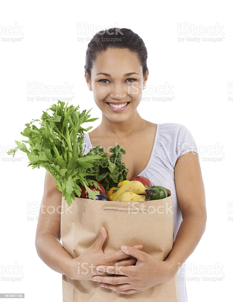 Ready to cook up some fresh and healthy meals! royalty-free stock photo