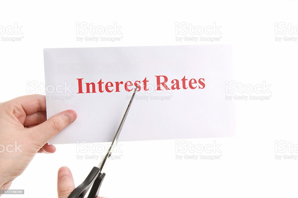 Ready to cut interest rates royalty-free stock photo