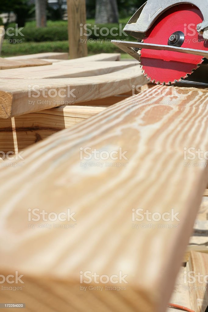 Ready to Cut Lumber royalty-free stock photo
