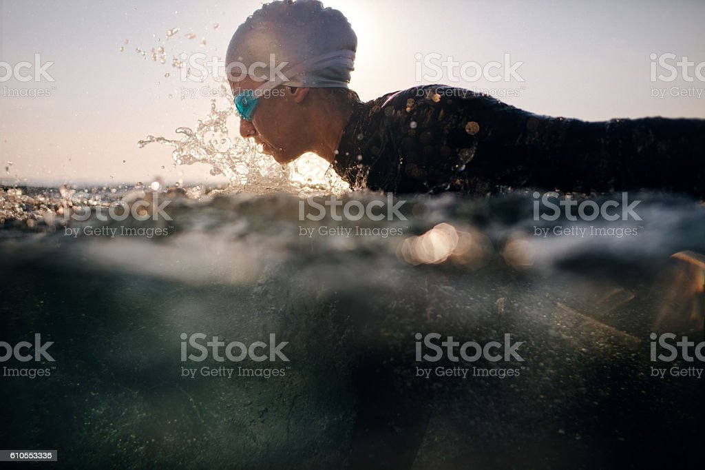 Ready to dive in stock photo