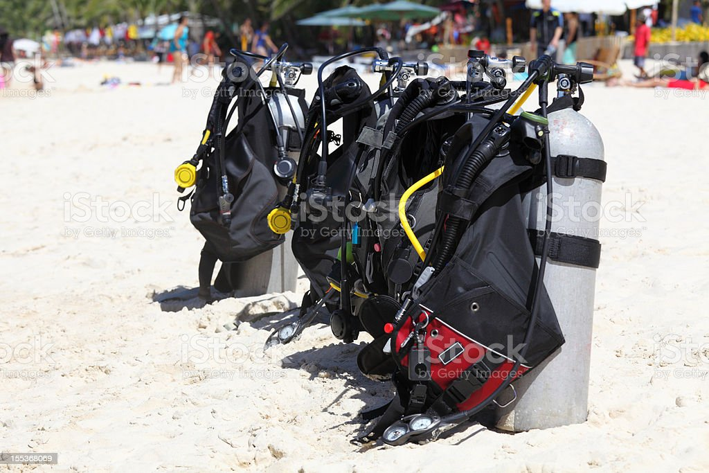 Ready to dive royalty-free stock photo