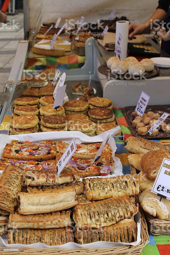 Ready to Eat Food at Bakery Stall at Food Market stock photo