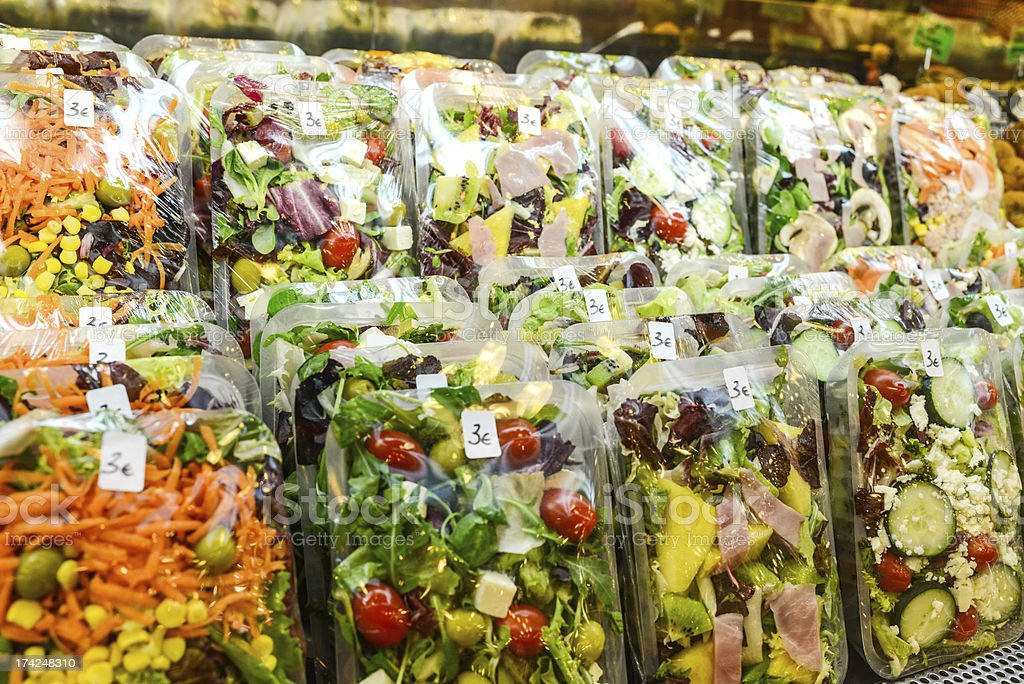 Ready To Eat Healthy Salads for  sale stock photo