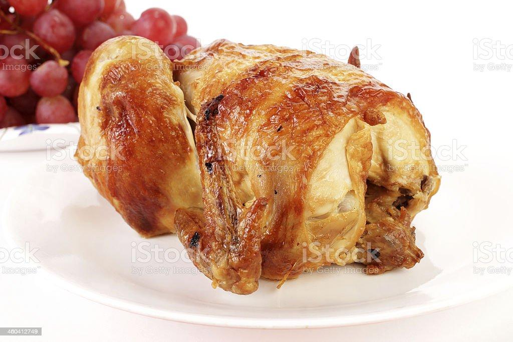 Ready to Eat Roast Chicken stock photo