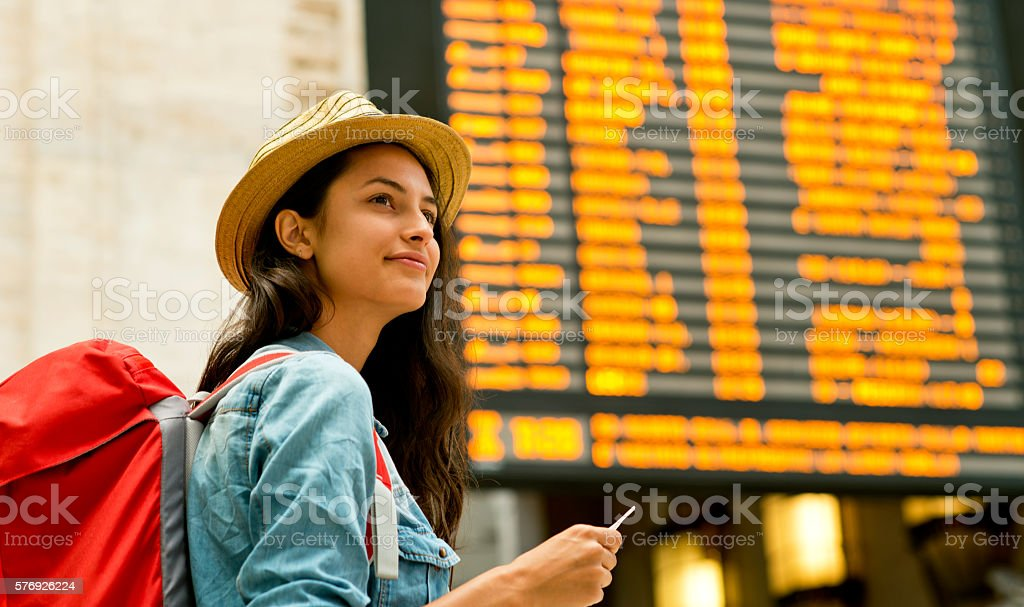 Ready to explore a new place. stock photo