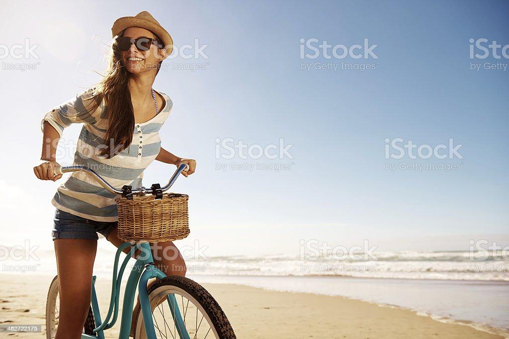 Ready to explore the beach stock photo