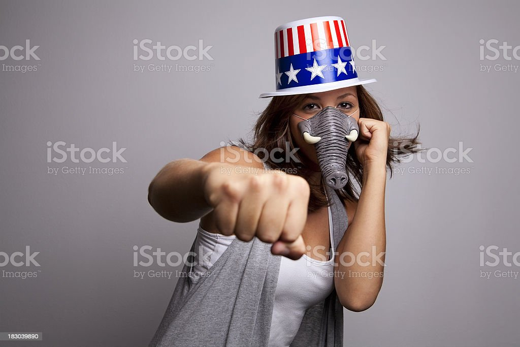 ready to fight stock photo