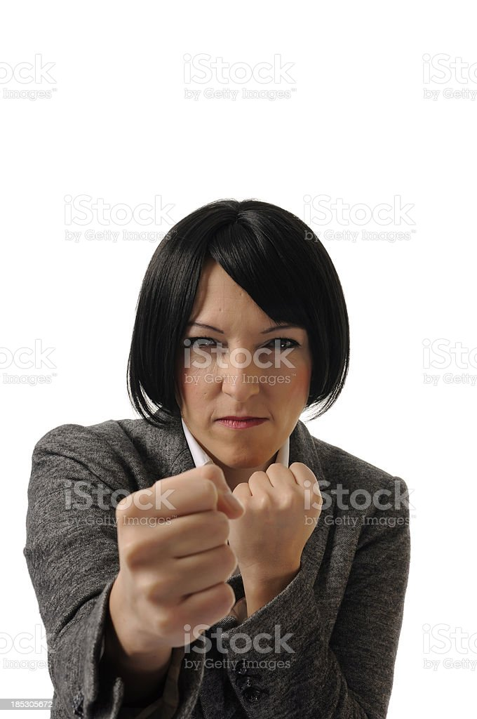 Ready to fight! stock photo