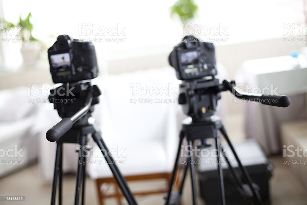 Ready To Filming An Interview royalty-free stock photo