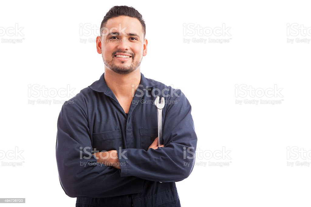Ready to fix your broken car stock photo