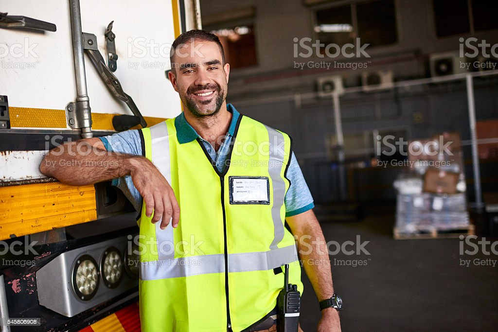 Ready to get delivering stock photo