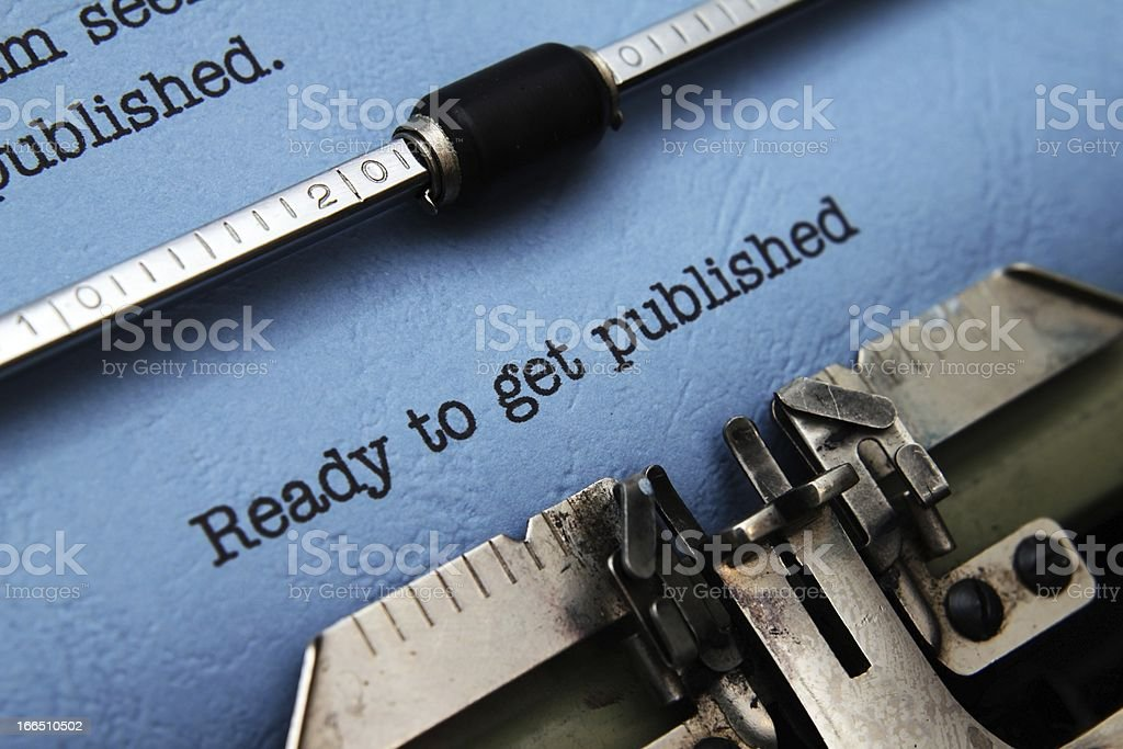 Ready to get published royalty-free stock photo