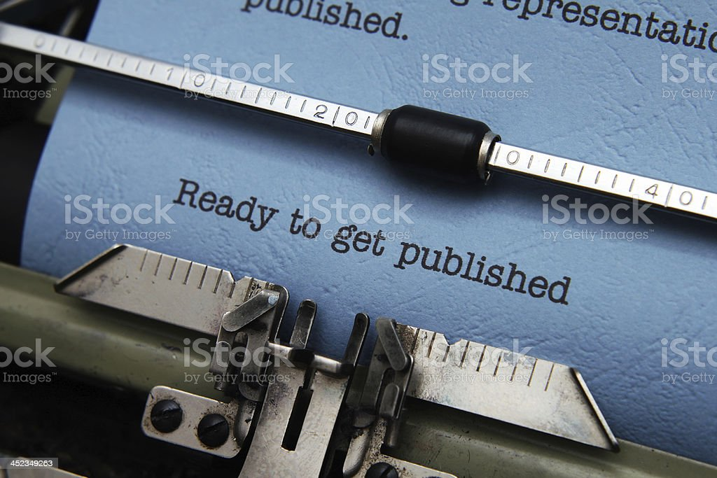 Ready to get published stock photo