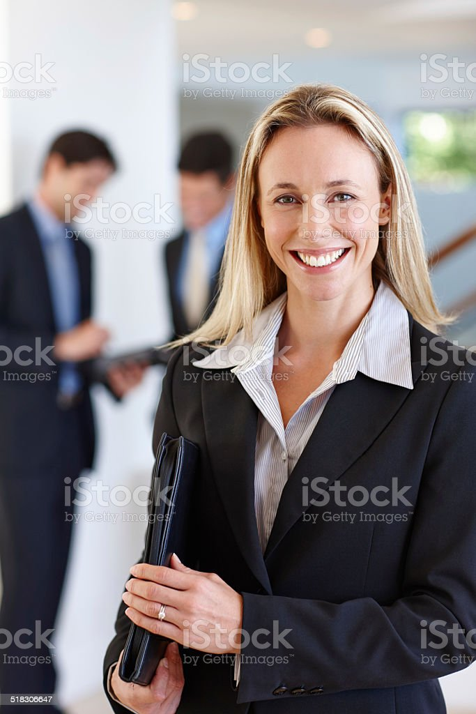 Ready to give an amazing presentation stock photo