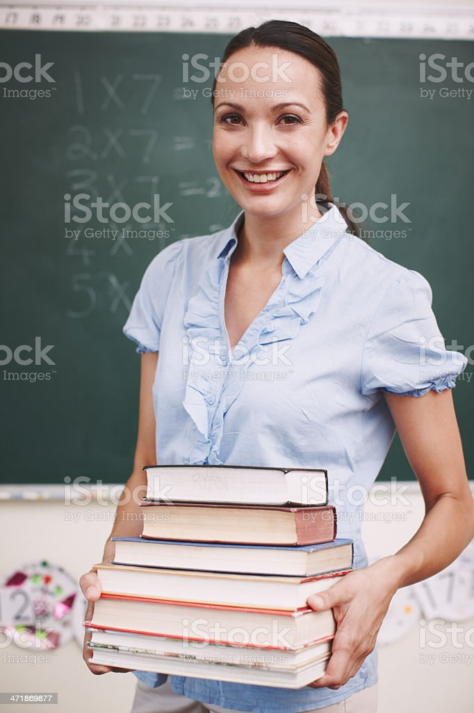 Ready to give an awesome lesson royalty-free stock photo