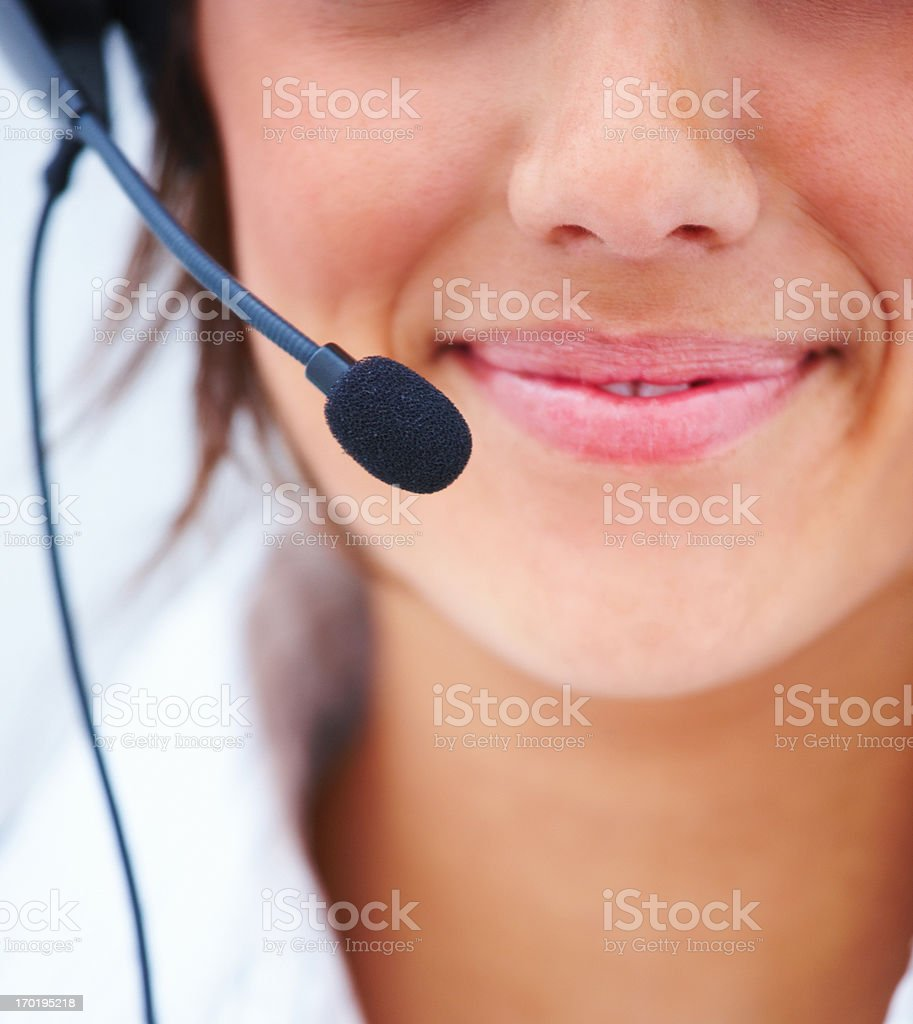 Ready to give only the best assistance stock photo