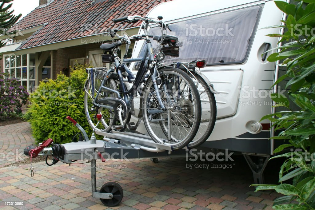 Ready to go: cycles on the caravan # 3 royalty-free stock photo
