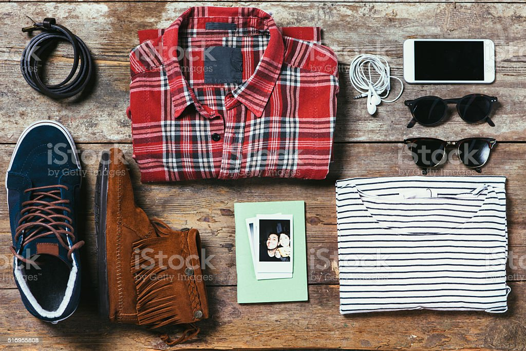 Ready To Go Out - Couple Edition stock photo